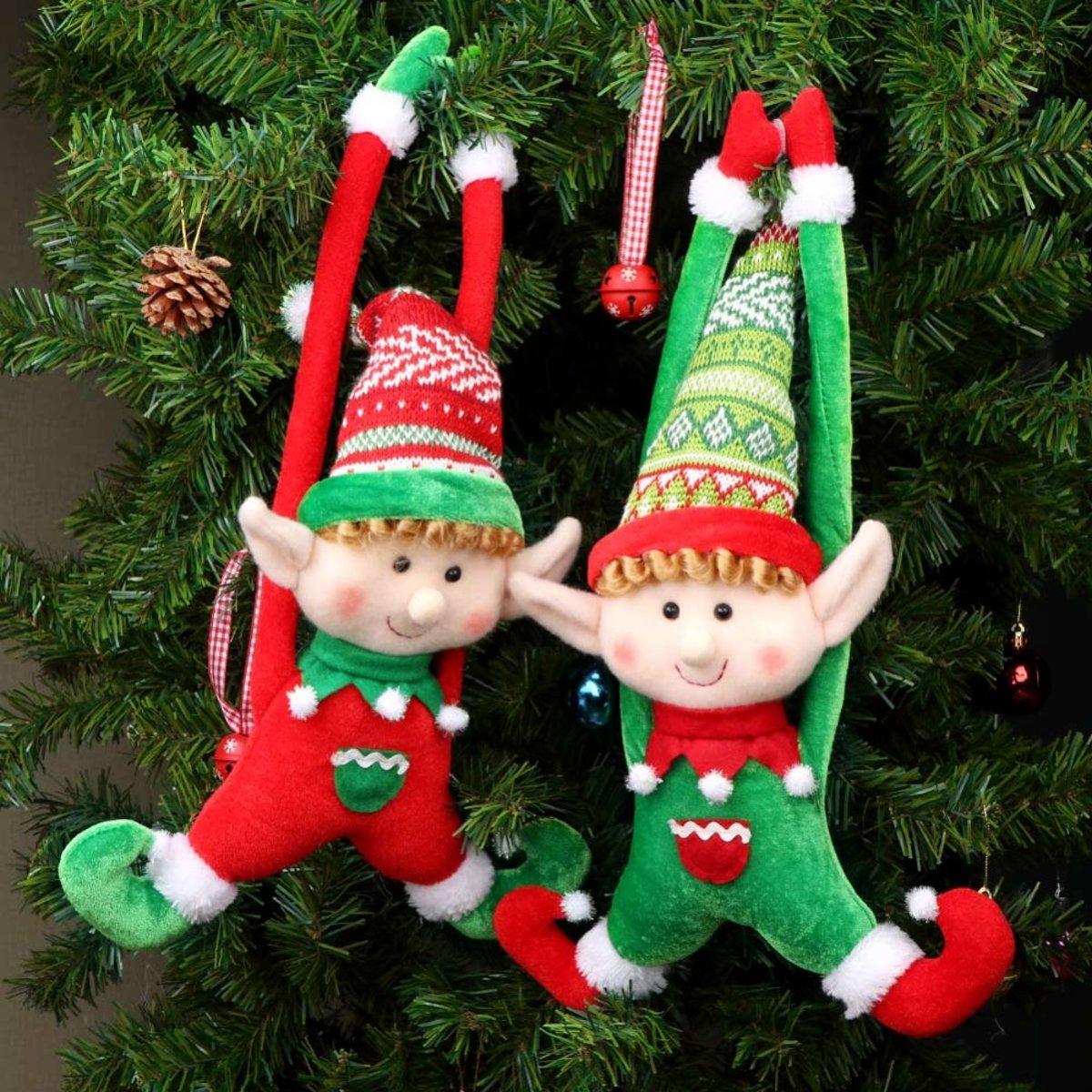 Kerst Poppen Set Elfjes (2 stuks) kopen