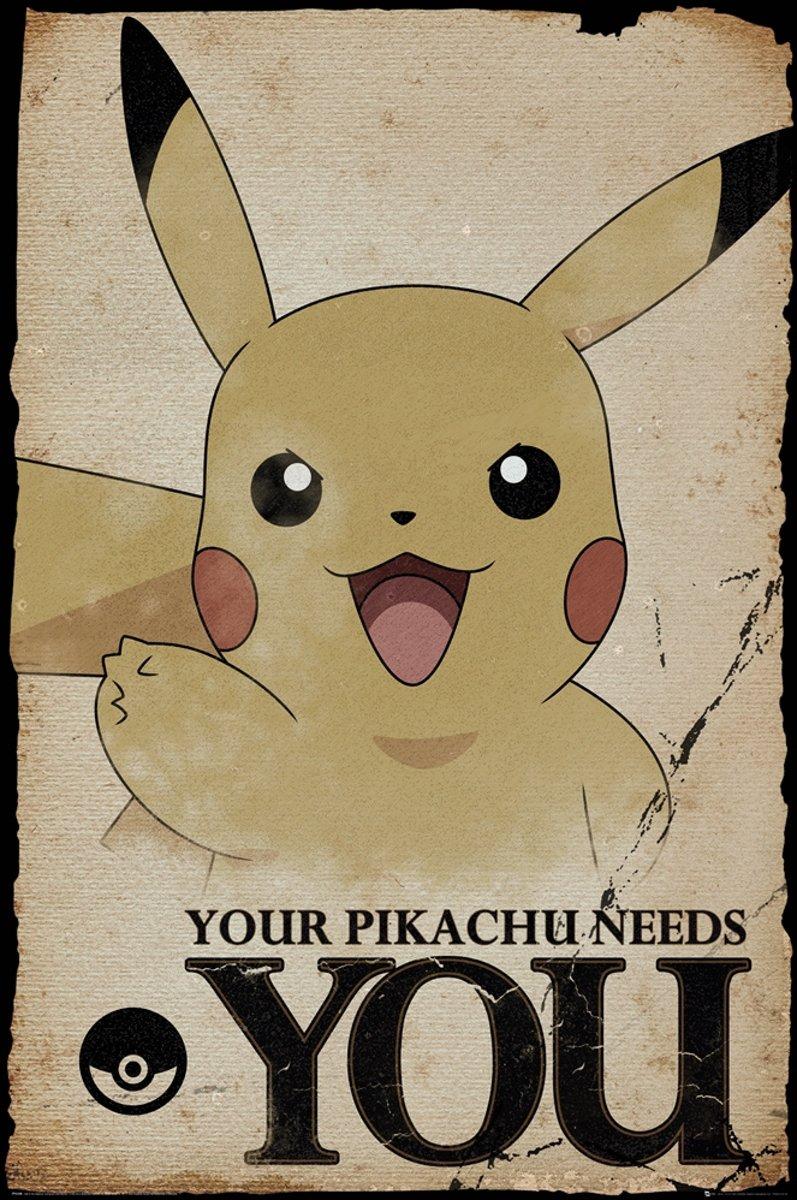 Poster Pokemon-Pikachu (61x91.5cm) kopen
