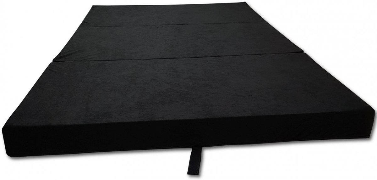 Logeermatras - camping matras - reismatras - opvouwbaar matras - 80 x 200 x 10 - zwart
