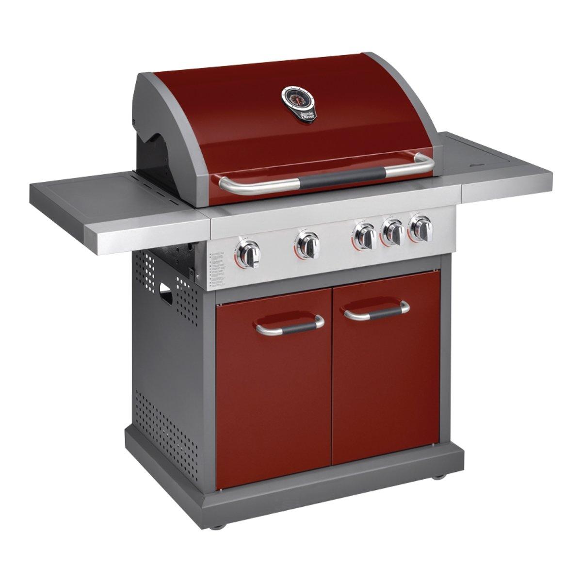 Jamie Oliver Performer 4 Gasbarbecue - 4 branders - Rood kopen