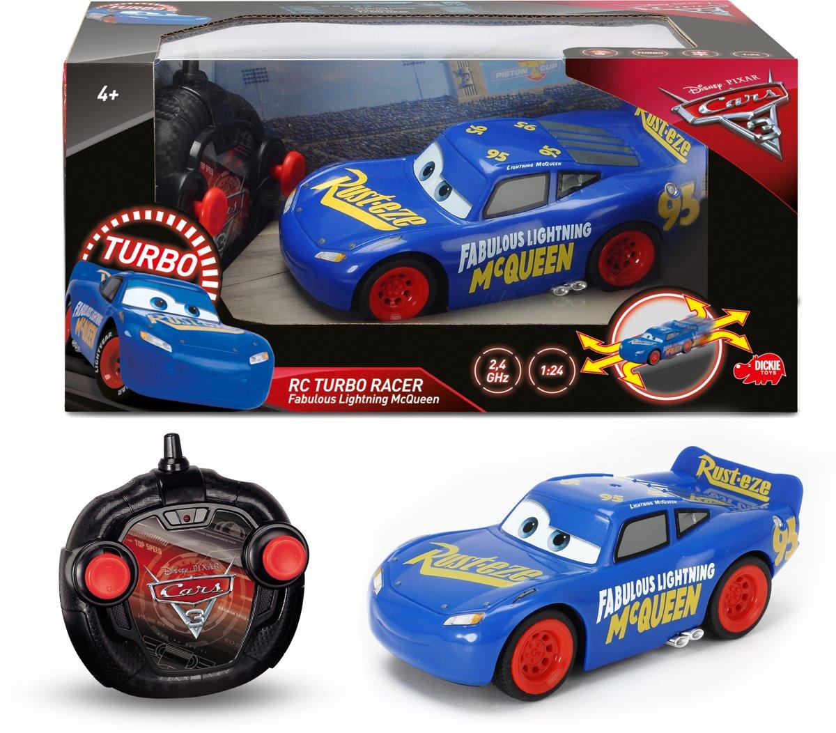 Cars 3 RC Fabulous Bliksem McQueen Turbo - Bestuurbare Auto - 17cm