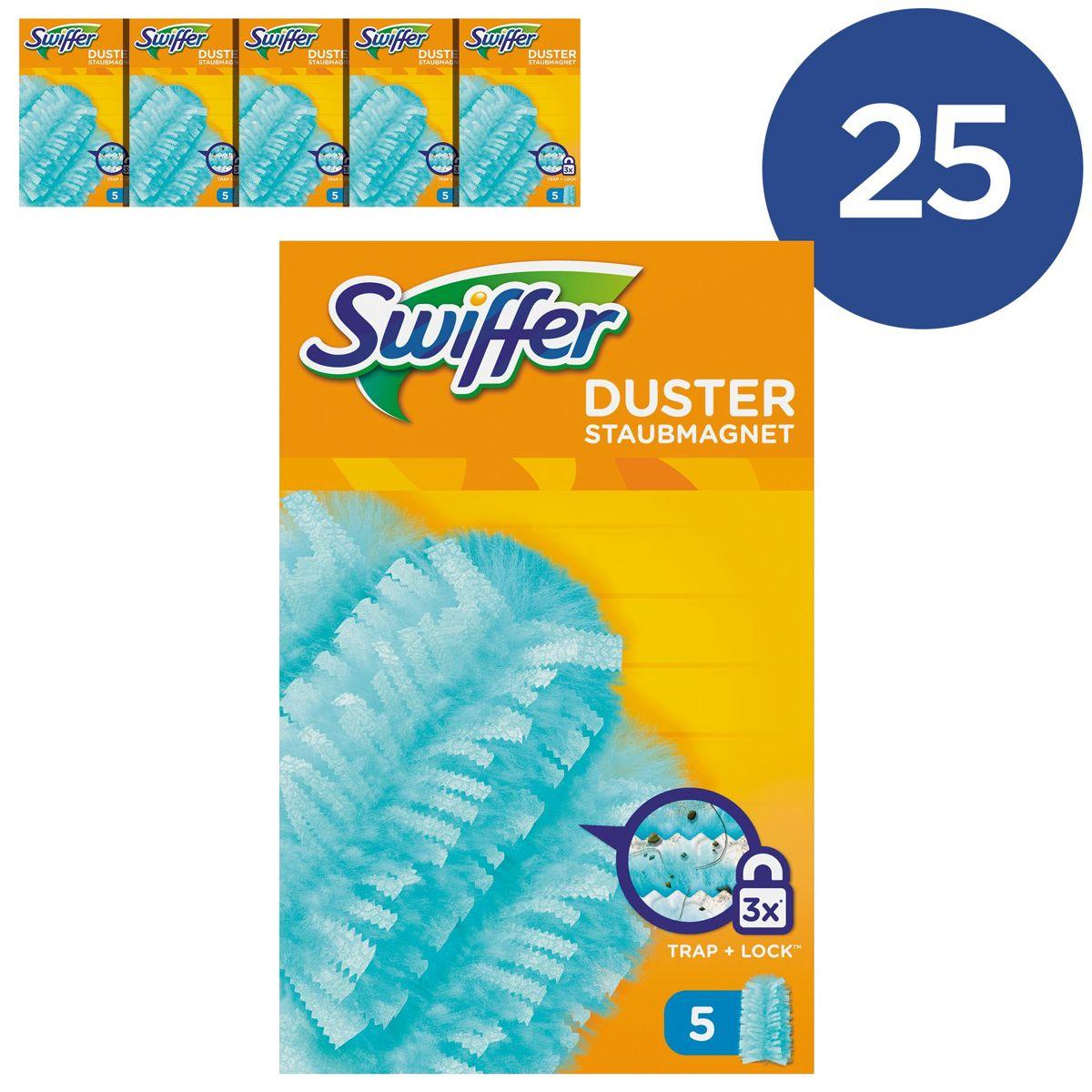 Swiffer Duster Navulling - Voordeelverpakking 25 Stuks (5x5) - Stofdoekjes kopen