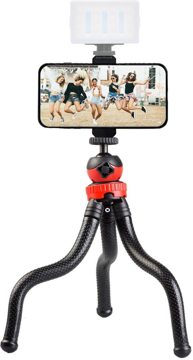 Flexibel mini-statief octopus voor smartphone, camera en GoPro - met telefoonhouder - mini tripod kopen