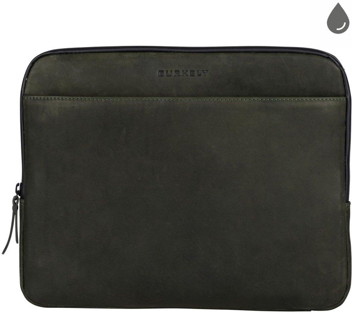 BURKELY Rain Riley Laptopsleeve 13.3 inch Clutch - Oil Groen kopen