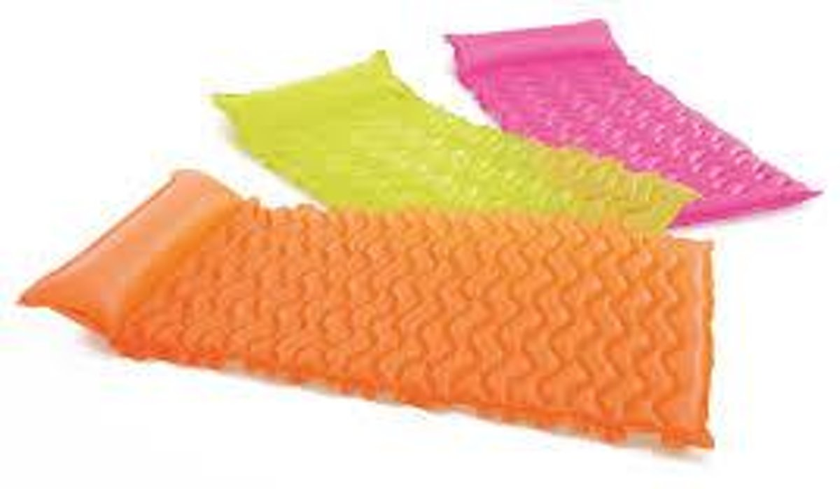 Luchtmatras Tote-n-float wave mats 229cm x 86cm - Intex