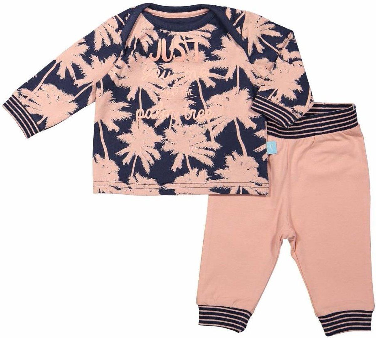 62 - Charlie Choe baby pyjama lounge set Pink Palmtrees Maat: 62 kopen