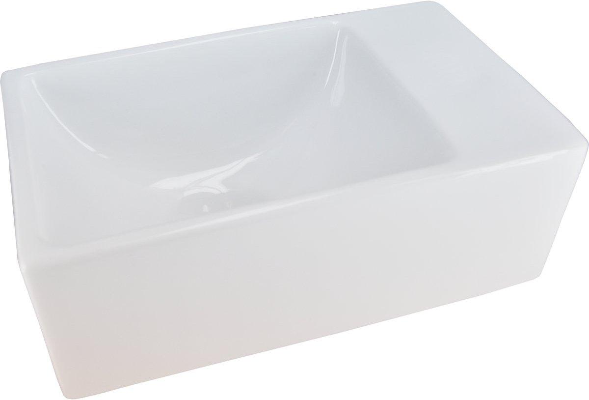 Wiesbaden Rhea XXS Fontein - Zonder kraangat - 30,5 x 18 x 11 cm - Wit kopen