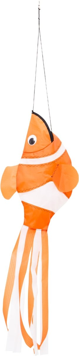 Windspiration Windsock Clownfish 98 Cm Oranje/wit
