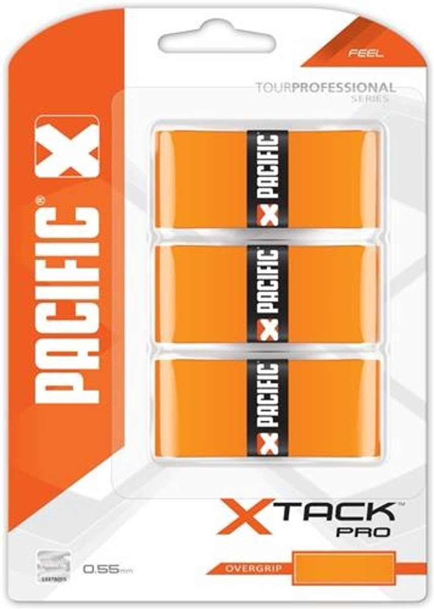 Pacific X Tack Pro Overgrip Feel Oranje 0.55 Mm 3 Stuks kopen