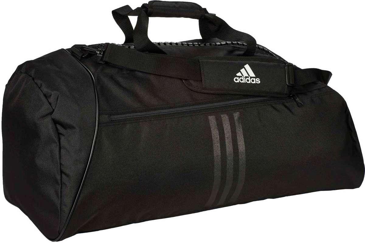 adidas Sporttas met Schouderriem zwart wit maat L