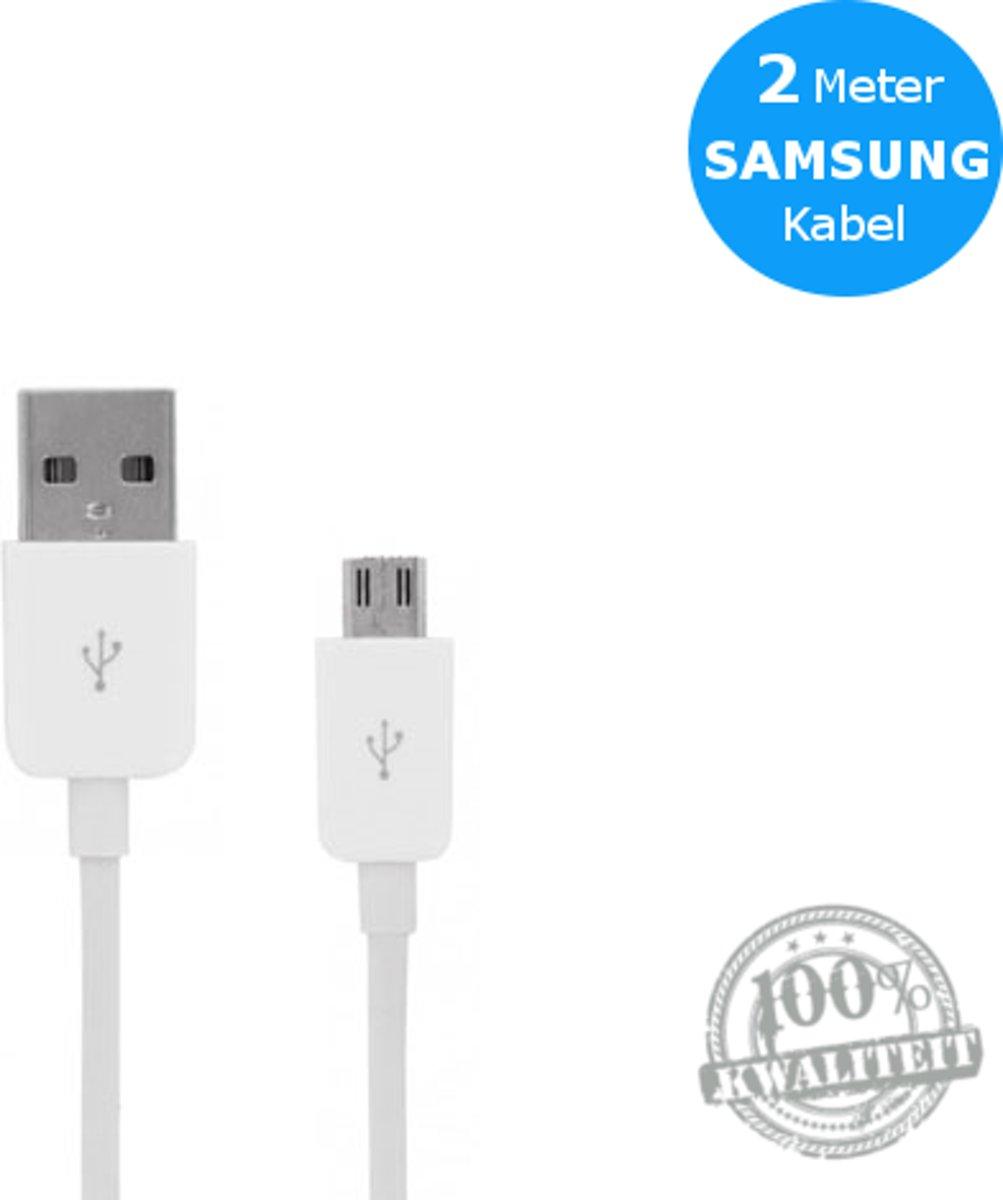 bol.com | Oplaadsnoer Kabel 2 Meter (Wit) voor Samsung Galaxy