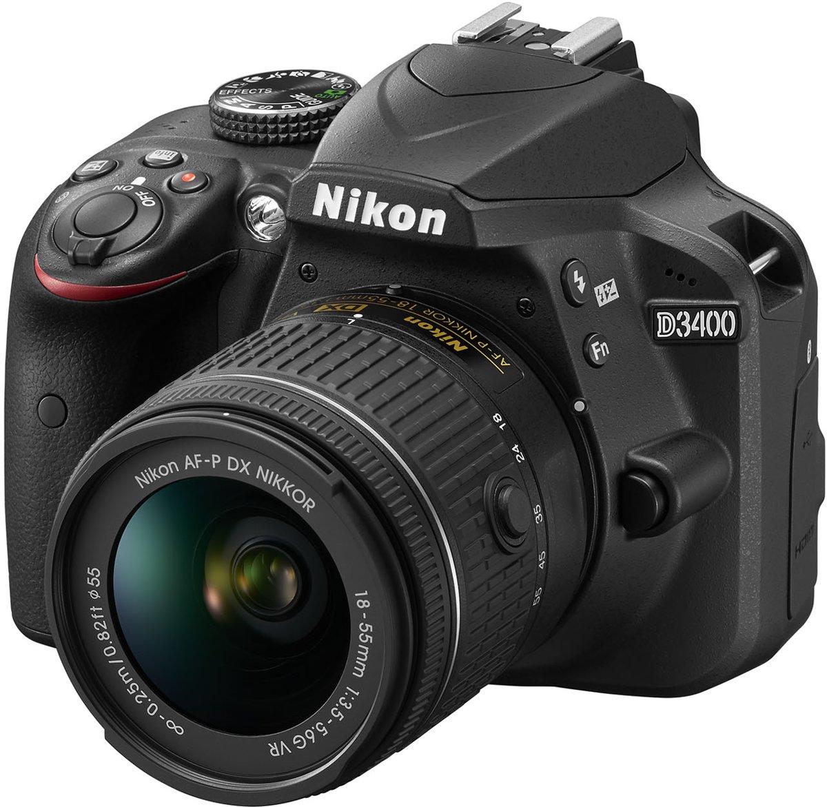 Nikon D3400 + AF-P 18-55 VR - Zwart