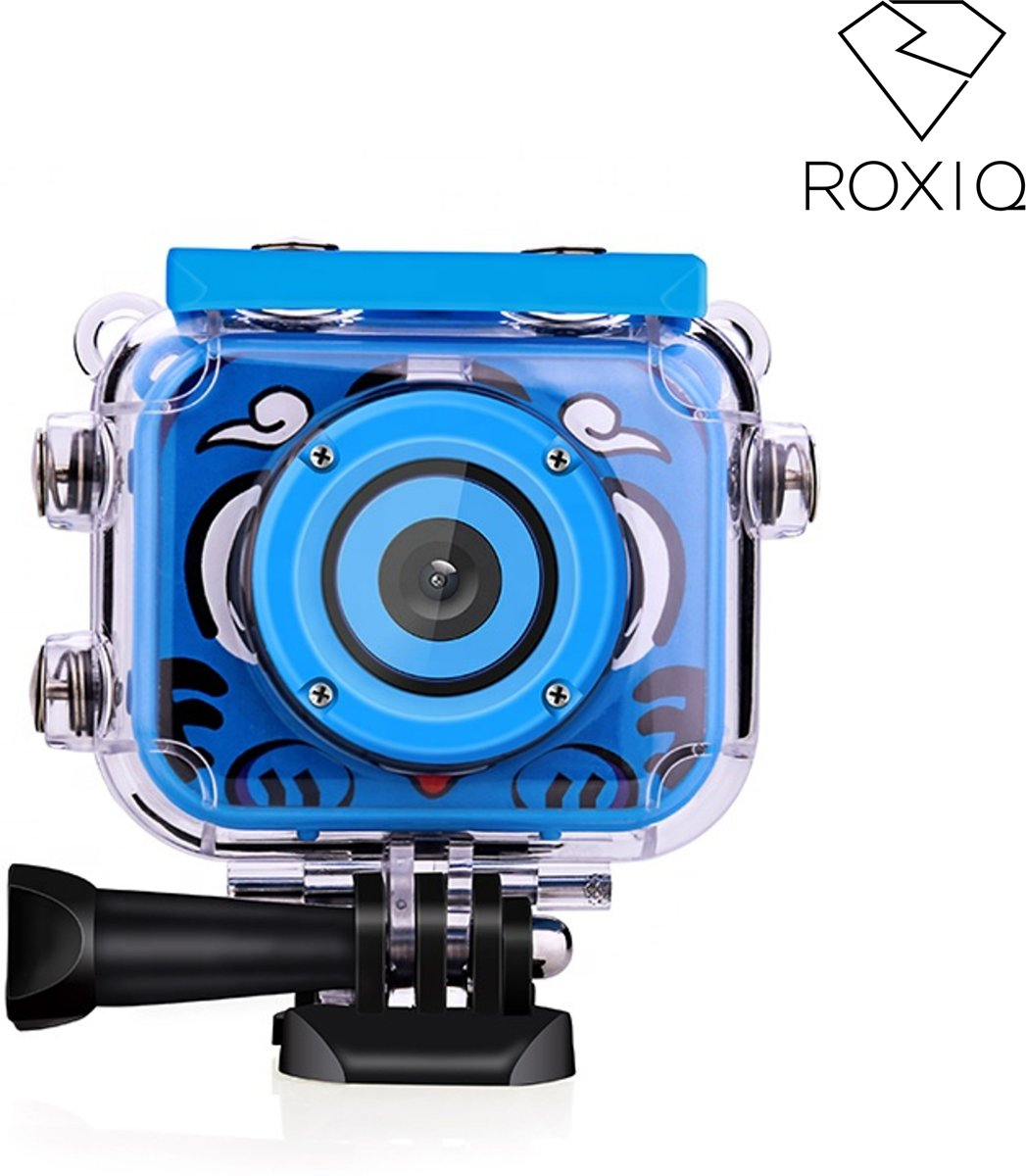 Roxiq kinder sport camera KSC1 blauw  - HD 1080p video - 12 megapixel foto's - Inclusief 16GB SD kaart