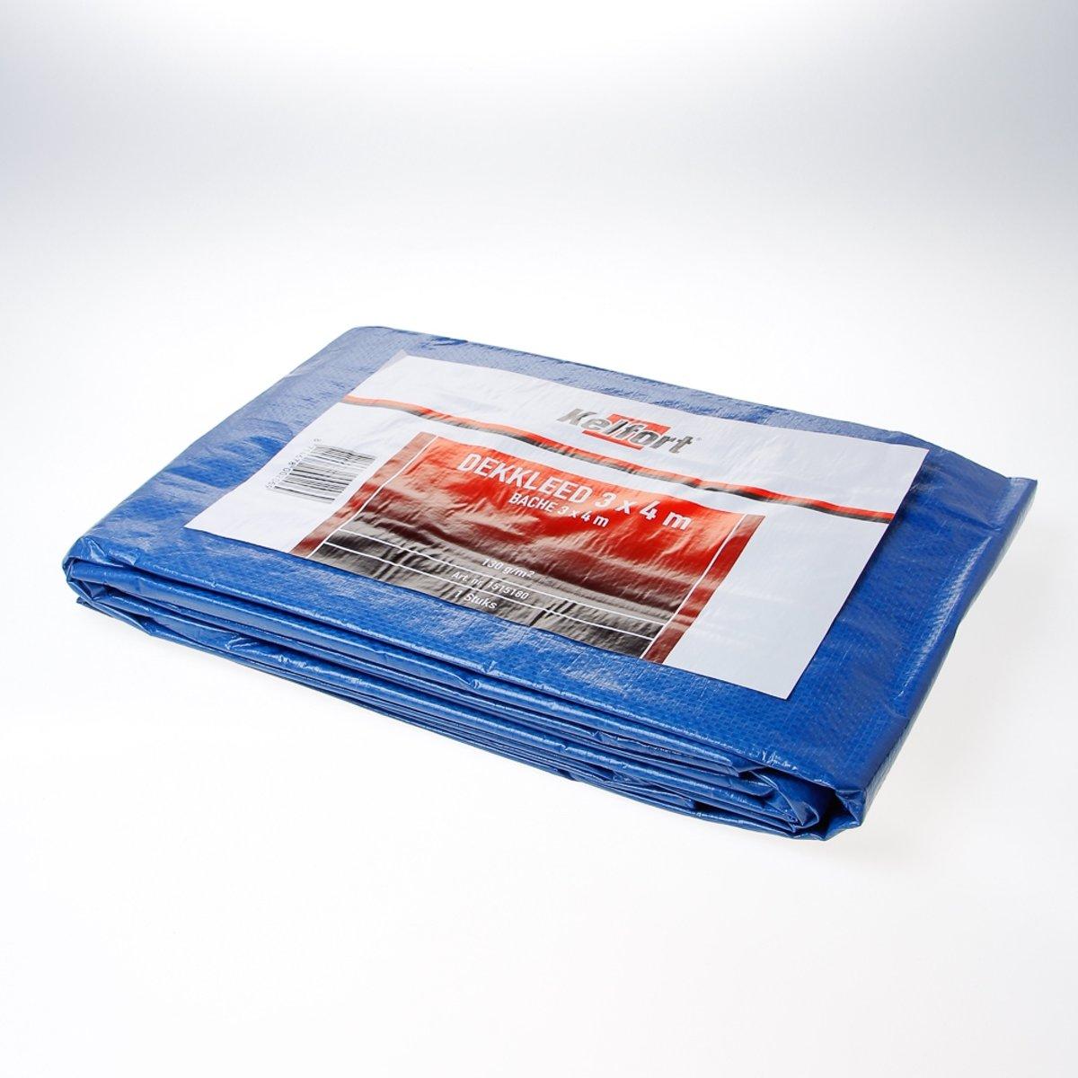 Kelfort dekkleed - +/- 3x4 mtr - zware kwaliteit - blauw
