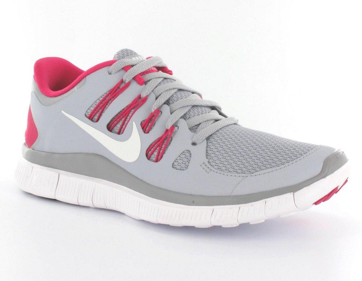 Nike Free 5.0+ Hardloopschoenen Dames Maat 36,5 Grijs;Roze;Wit