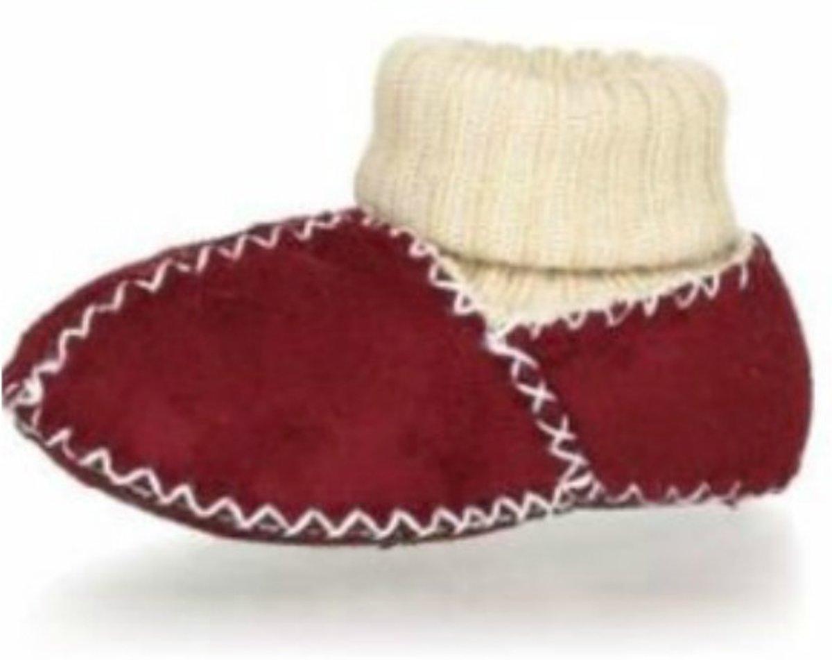 Playshoes babyslofjes band rood kopen