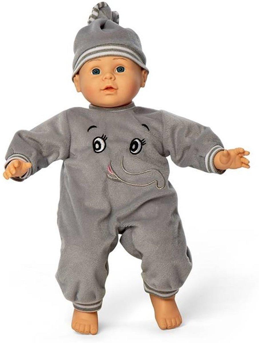 Mini Mommy Babypop Oscar Grijs 40 Cm