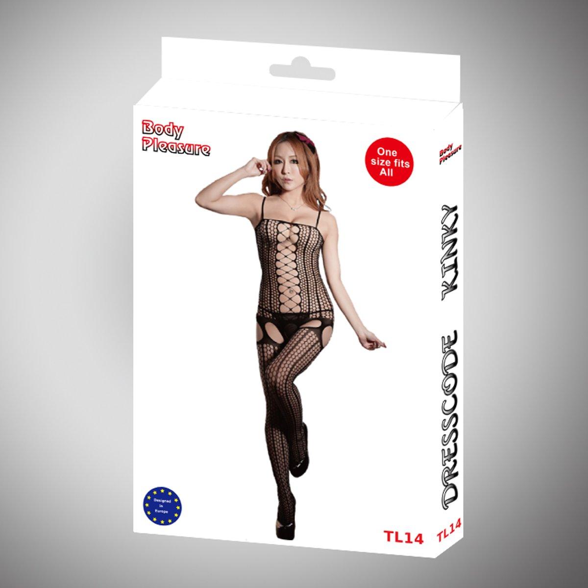 Foto van Body Pleasure - Sexy Lingerie set - 2-Pack - Met Chique Cadeau Verpakking In Full Colour - TL14+TL16 - One Size - Zwart