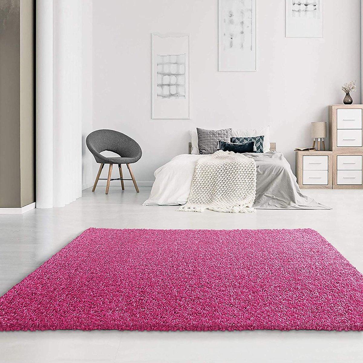 Ronde Vloerkleed Goedkoop : Bol hoogpolig shaggy vloerkleed loca cm roze