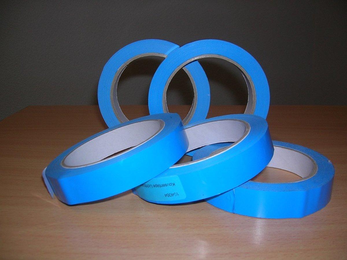 MSP Kousentape - Lichtblauw - 19mm x 66m 2rollen kopen