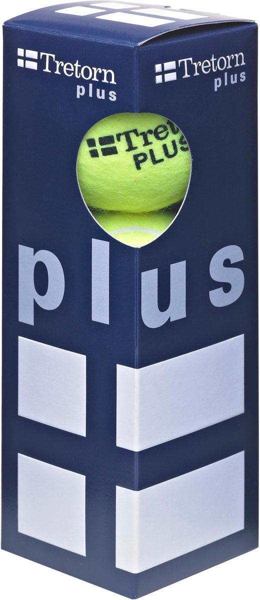 Tretorn Plus - Tennisballen - 3 stuks - Geel kopen