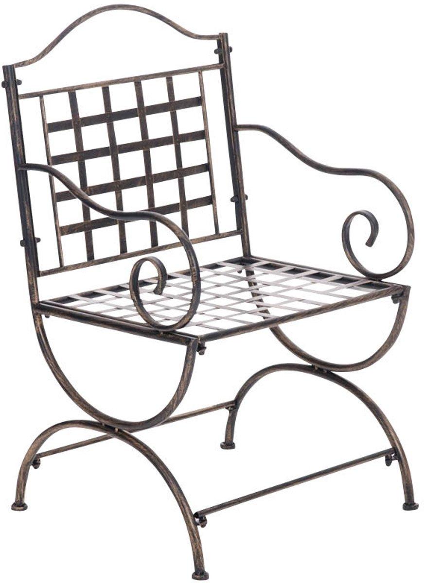 Clp Tuinstoel LOTTA, bistrostoel, terrasstoel, balkonstoel, landhuis stijl, vintage, retro, country life stijl, antiek nostalgisch design, zithoogte 4