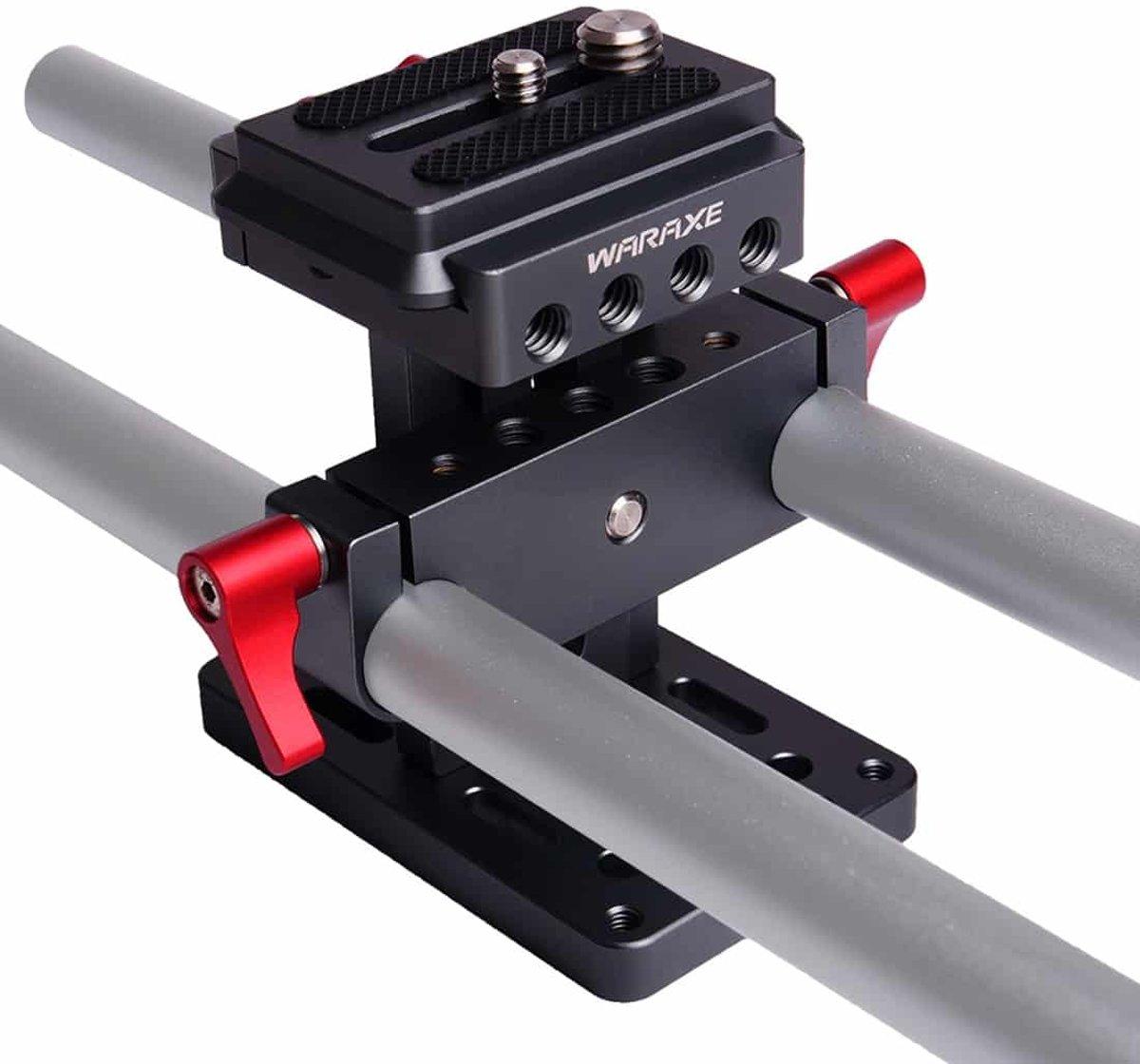 WARAXE 2630 Hefstijl Arca Swiss Clamp grondplaat, 15 mm Rodgat (zwart) kopen