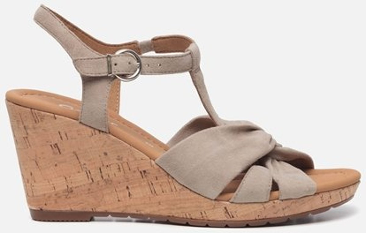 Gabor Comfort sandalen met sleehak grijs Maat 40
