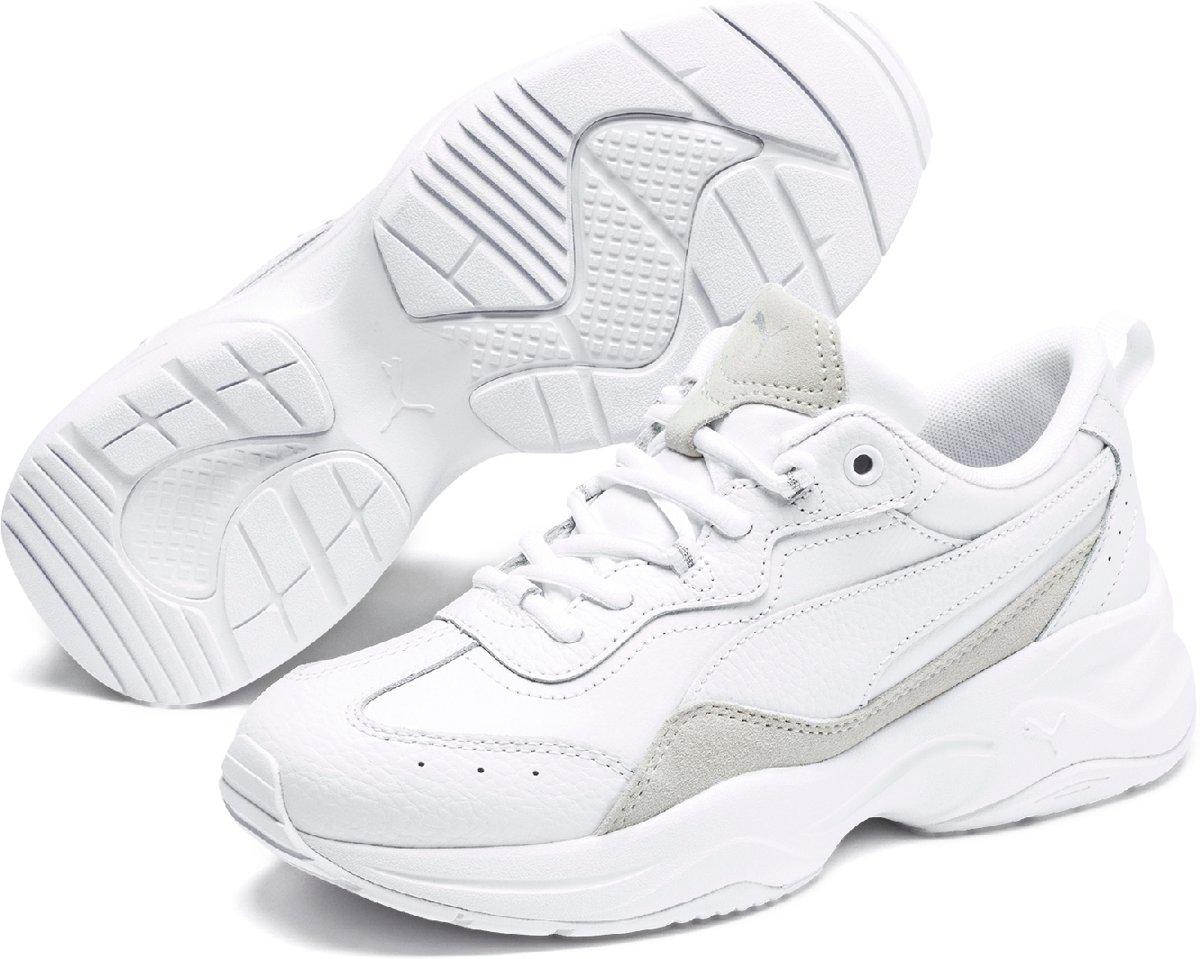 PUMA Cilia Lux Dames Sneakers Puma White Puma White Puma Silver Maat 41