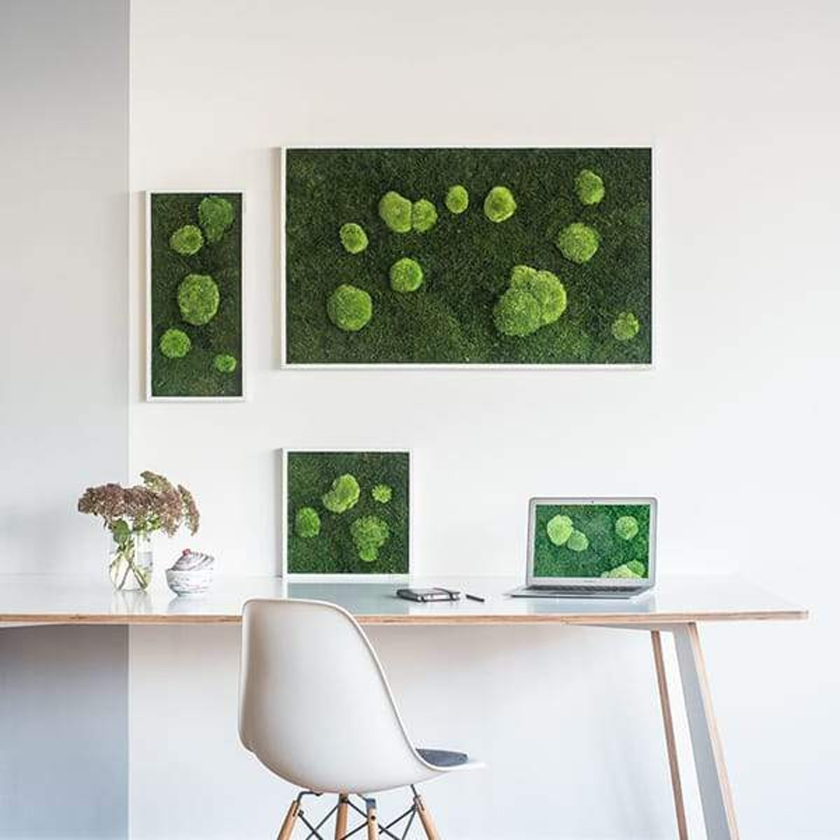 Verticale tuin - Flat & Pole moss - 140 x 40cm