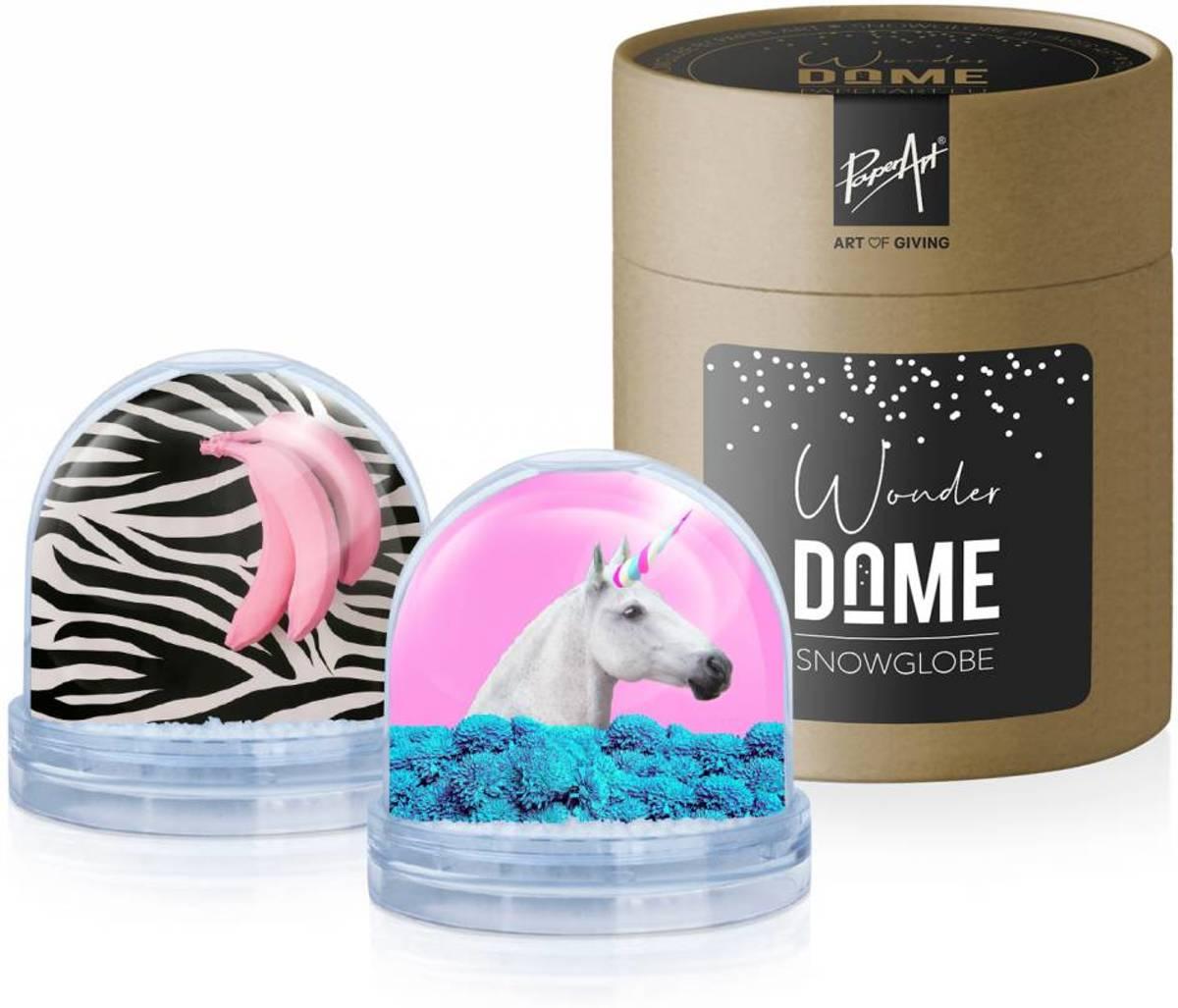 Sneeuwbol 'Wonder Dome' - Eenhoorn & Roze Bananen kopen
