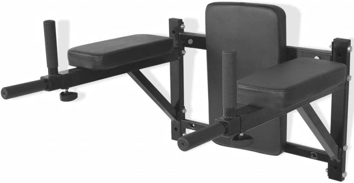 Dipstation fitnessapparaat wandgemonteerd zwart kopen