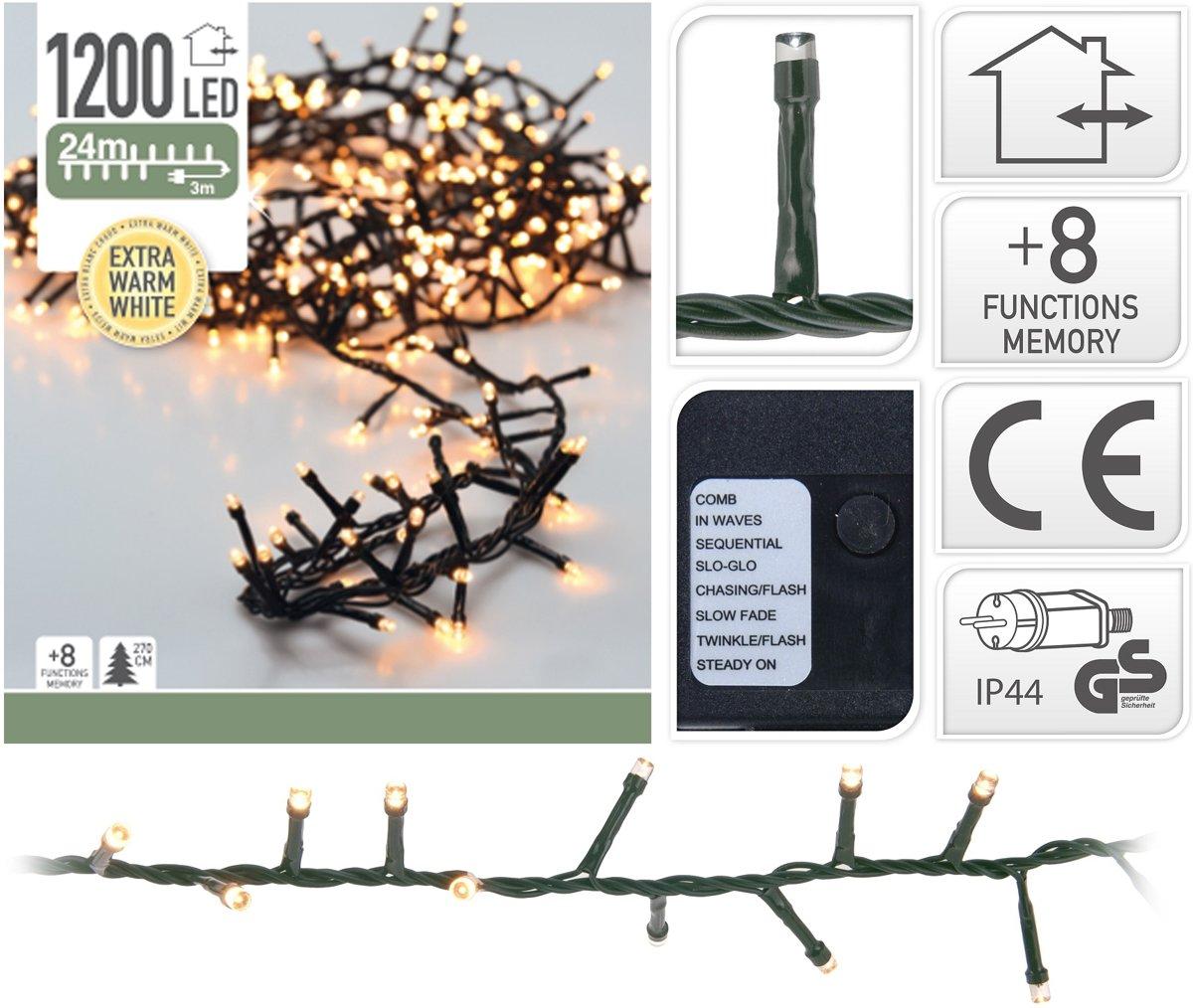 DecorativeLighting Micro Cluster 1200 LED's 24 meter warm wit kopen