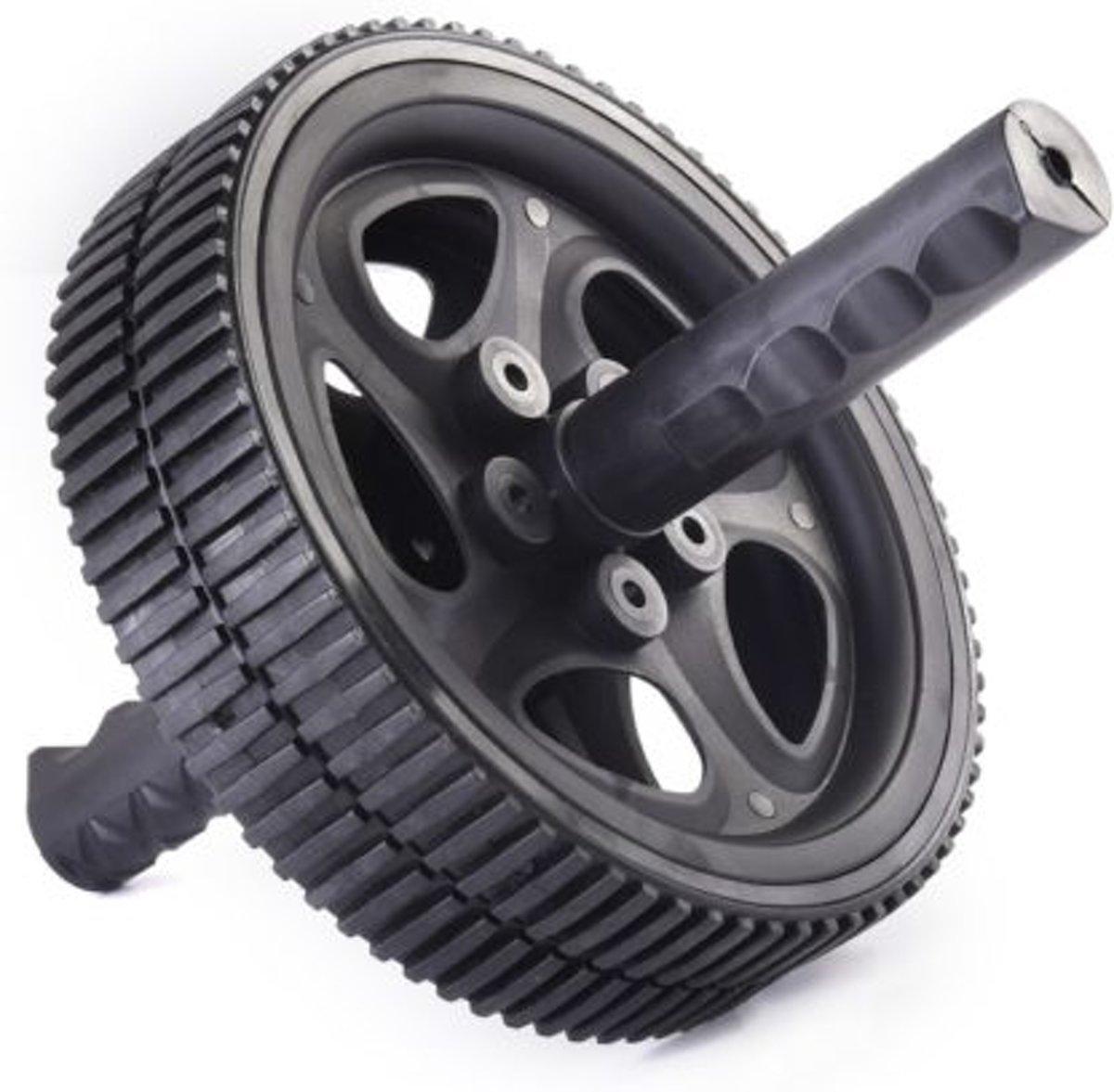 Matchu Sports - Ab Wheel - Ø 18.5cm - Zwart kopen