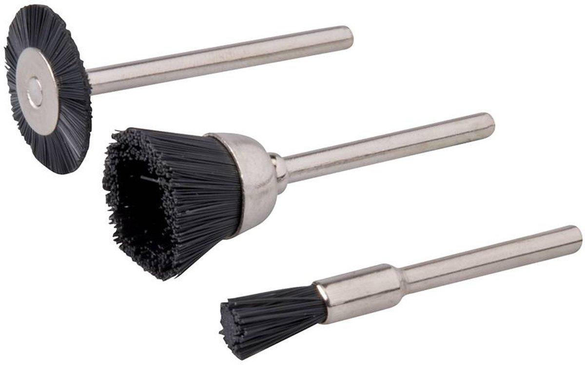 Silverline 3-delige nylon borstel set 5, 15, 20 mm dia. kopen
