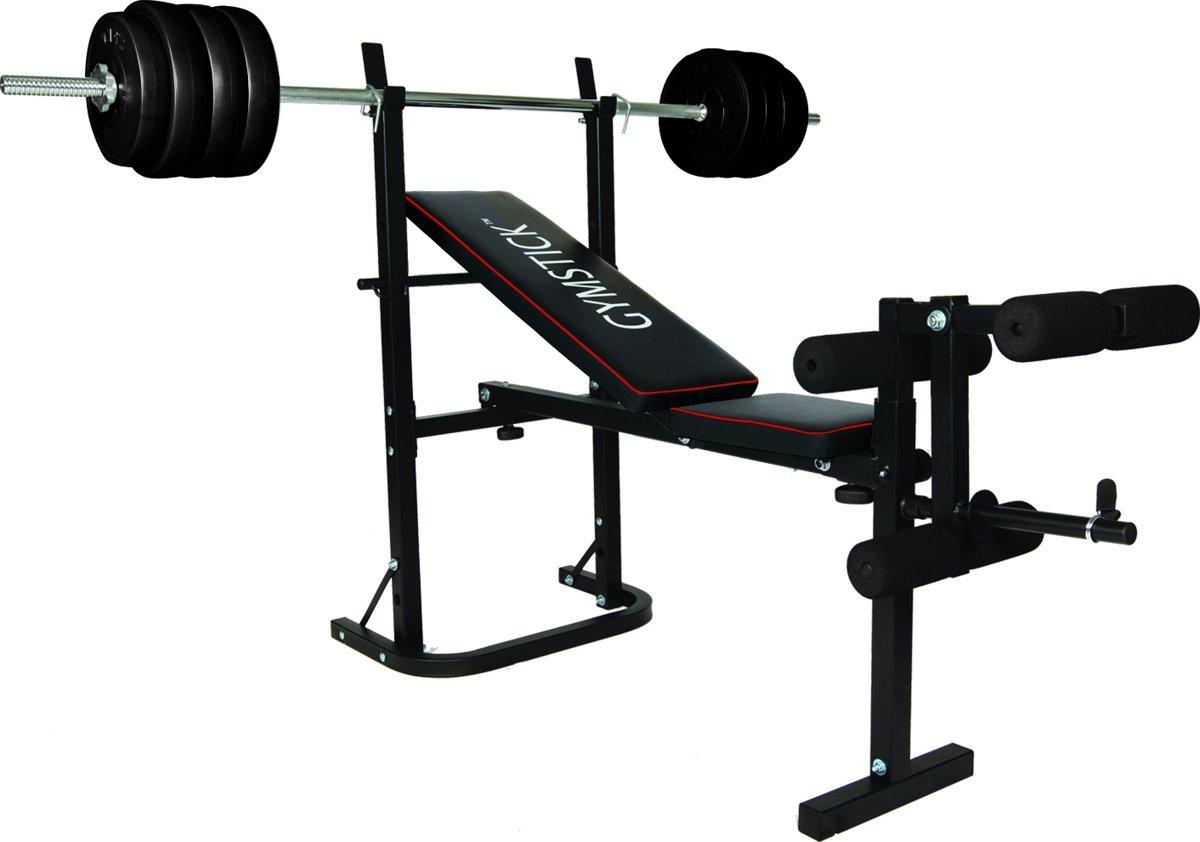 Gymstick Halterbank Met 40kg Gewichten kopen