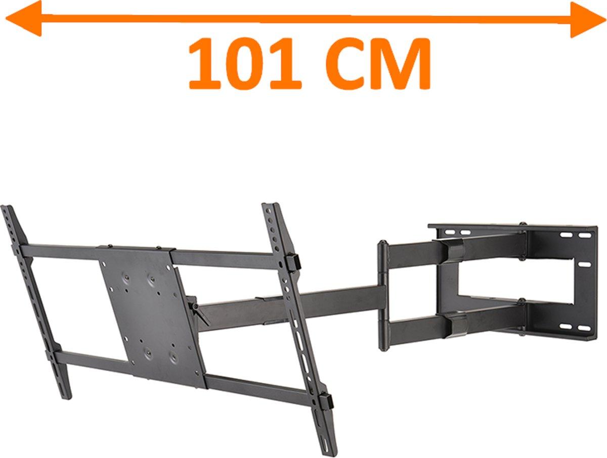 DQ Wall-Support DQ Reach XXL 101 cm Extra Lange TV Beugel Zwart kopen