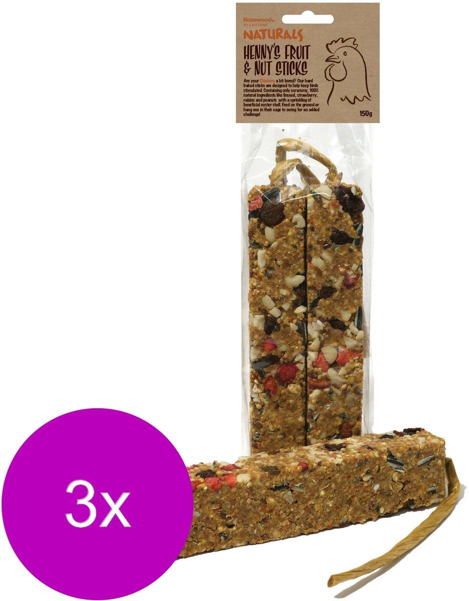 Naturals Kippensnack Stick - Kippenvoer - 3 x 150 g