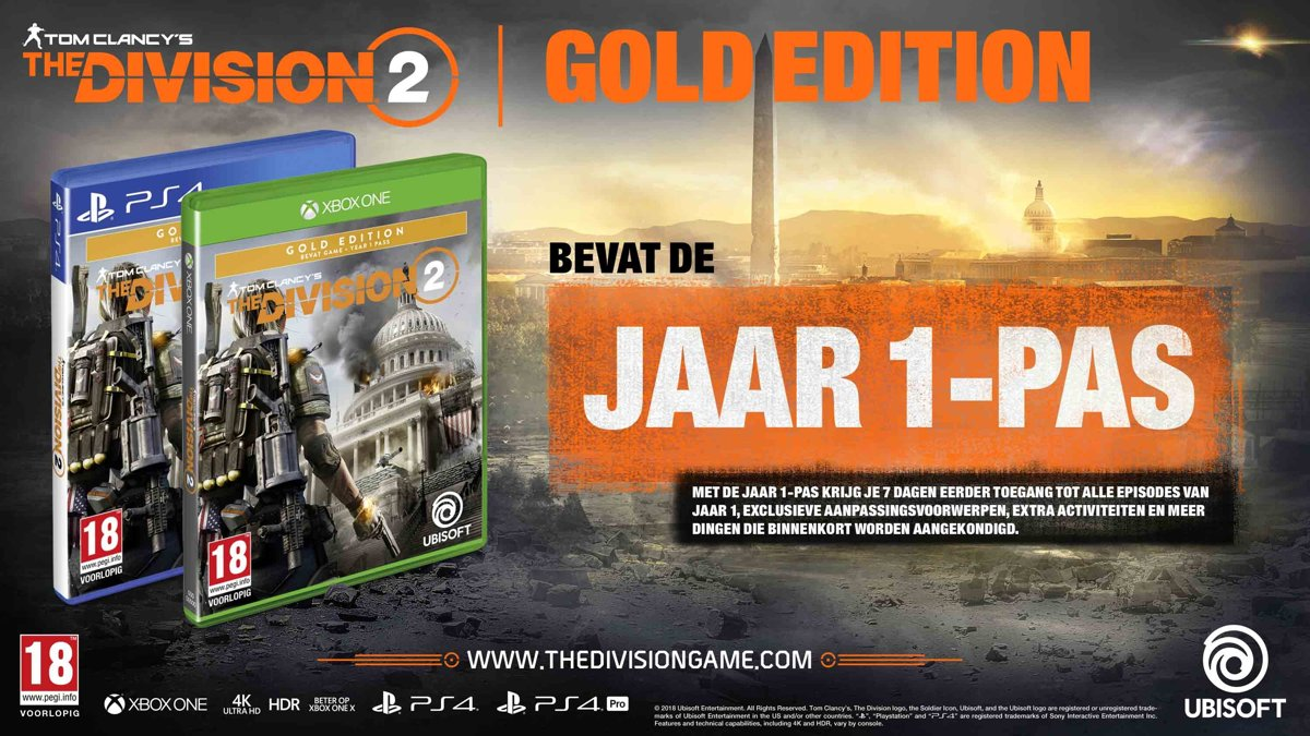 The Division 2 - Gold Edition PlayStation 4