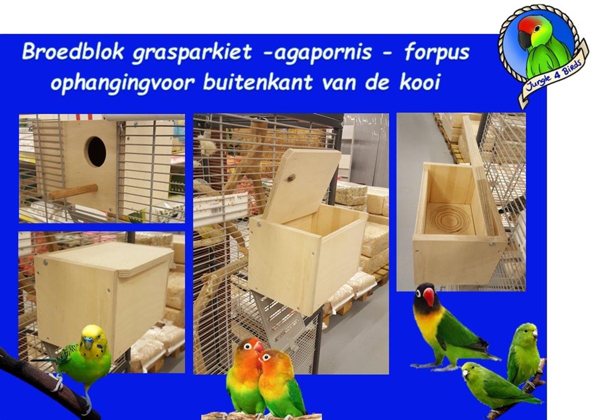Broedblok Grasparkiet - Agapornis e.d horizontaal (plaatsen buitenkant tralie) kopen