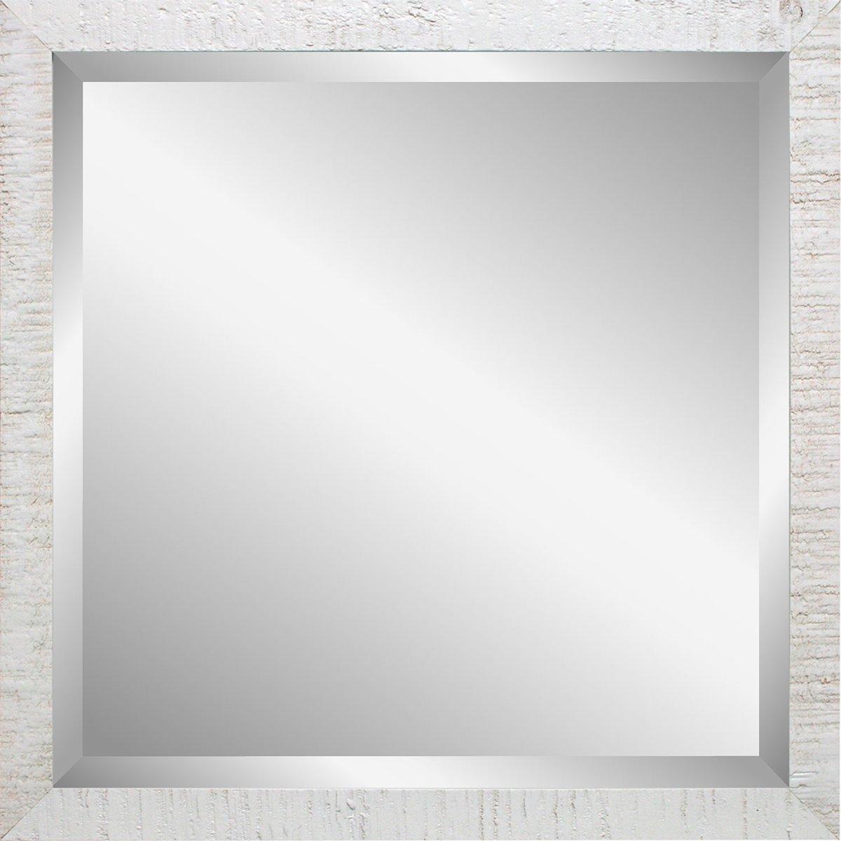Henzo driftwood spiegel x cm wit with grote spiegel zonder for Spiegels zonder lijst
