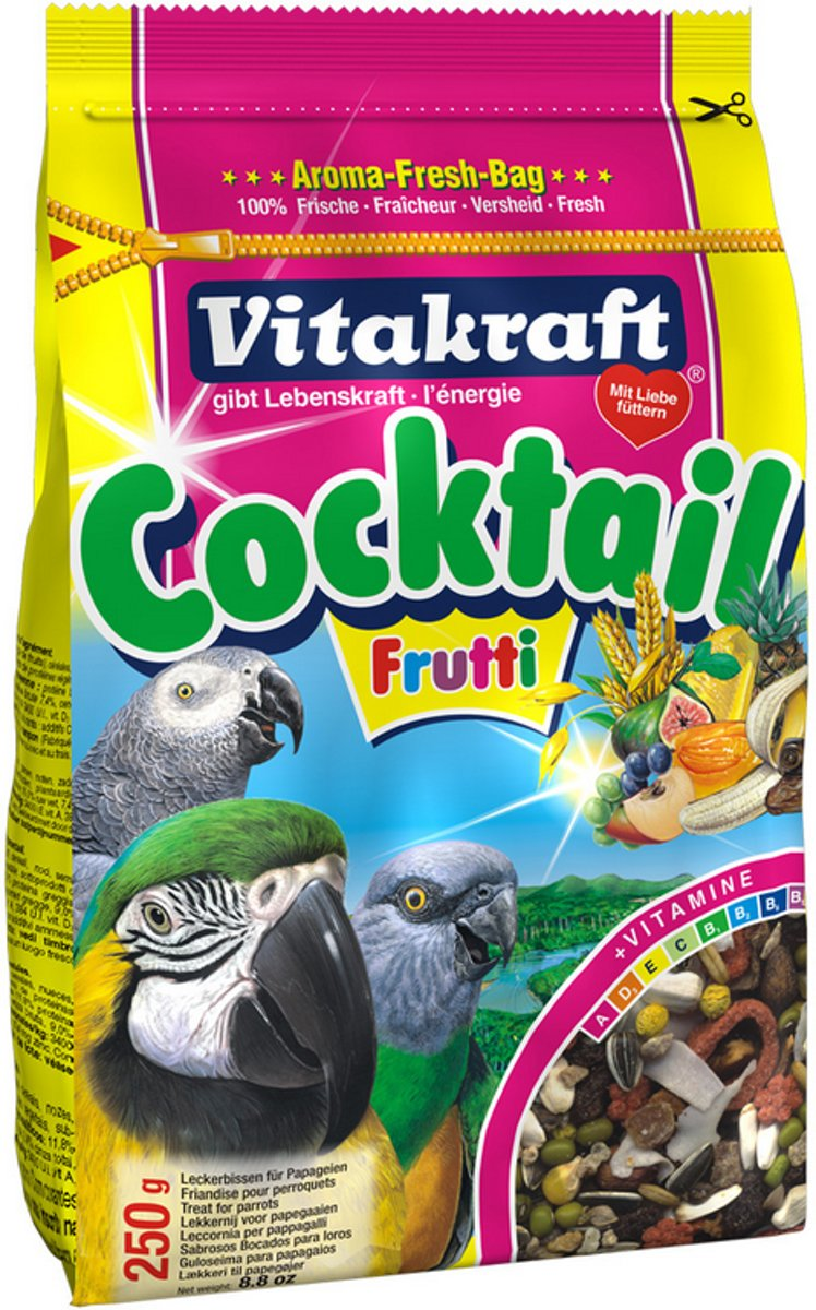 Vitakraft Papegaaicocktail Fruit - 2 St à 250 gr - Vogelsnack kopen