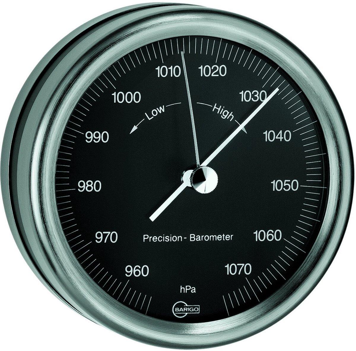 Barigo 823zw barometer zwart gelakt edelstaal kopen