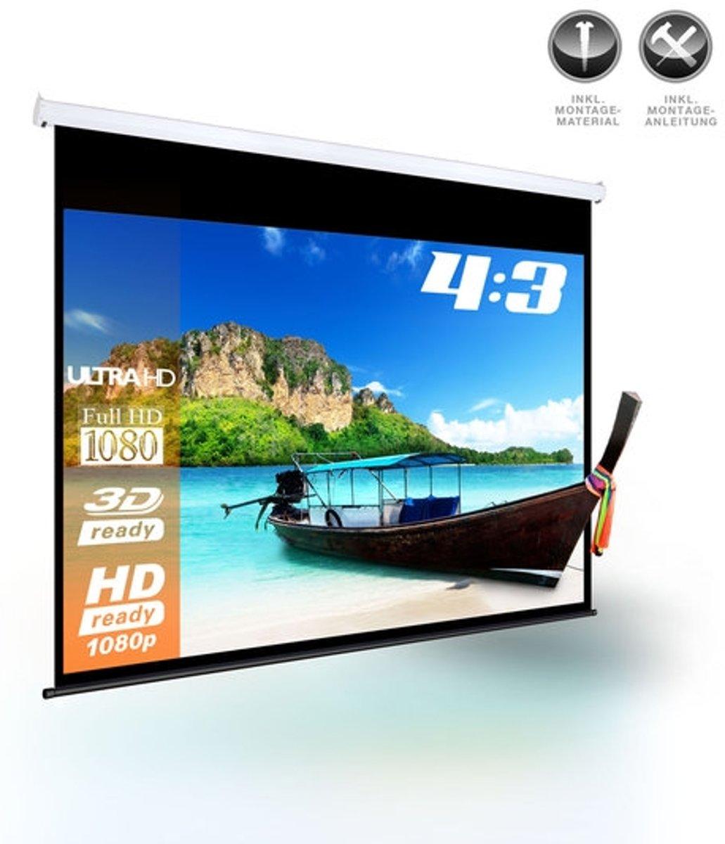 Trend24 - Oprolbaar - Projectiescherm - 178 x 178 cm kopen