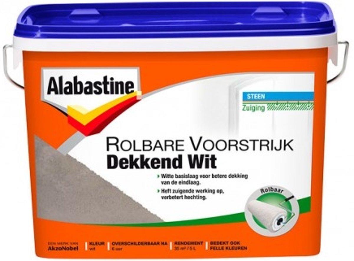 Alabastine Rolbare Voorstrijk Dekkend Wit 5L kopen