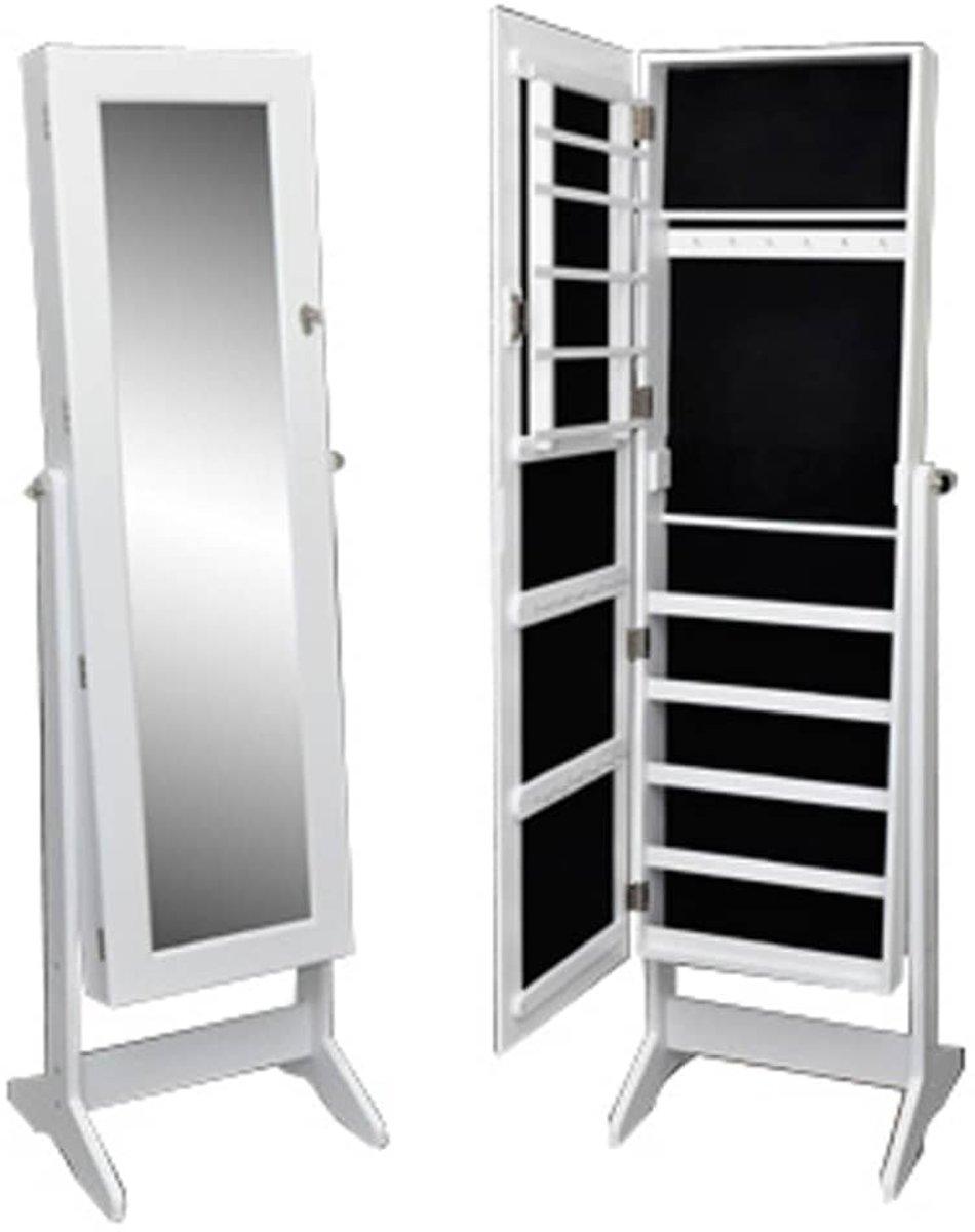 Simple bolcom vidaxl passpiegel wit spiegel hout x cm wit for Passpiegel blokker