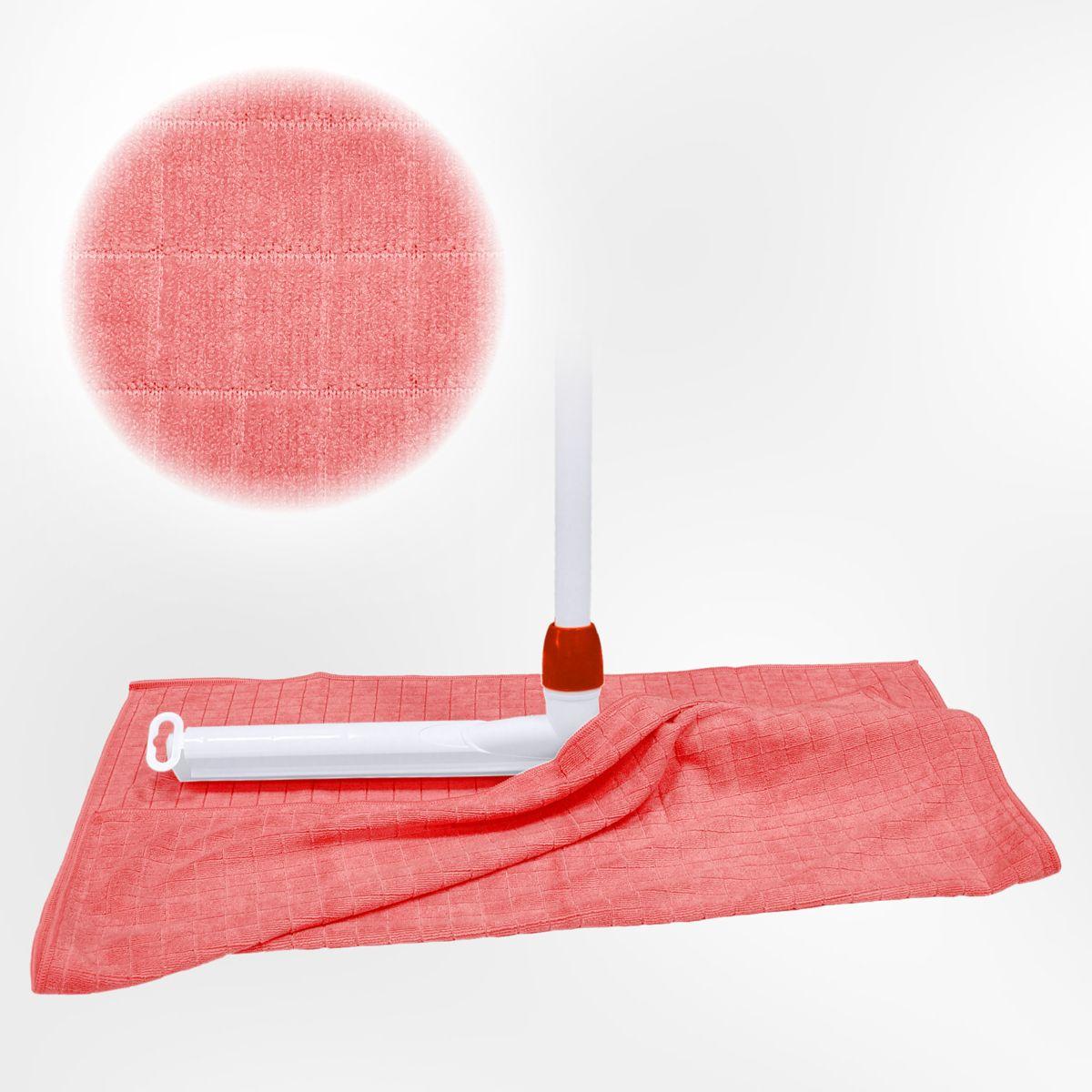 Dweil voor meer dieptereiniging dankzij Microvezel 55 x 65 cm - 3 stuks Roze dweilen kopen
