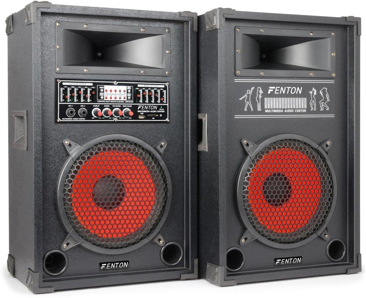 Skytec SPA-1000 - PA Karaoke Actieve Speakers 10 inch - Zwart kopen