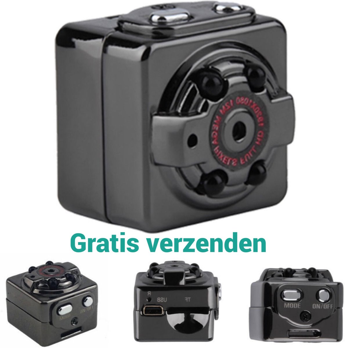 Saizi Verborgen (knoop)  dashcam  FULL HD 1080P - Mini cube - Spy camera kopen