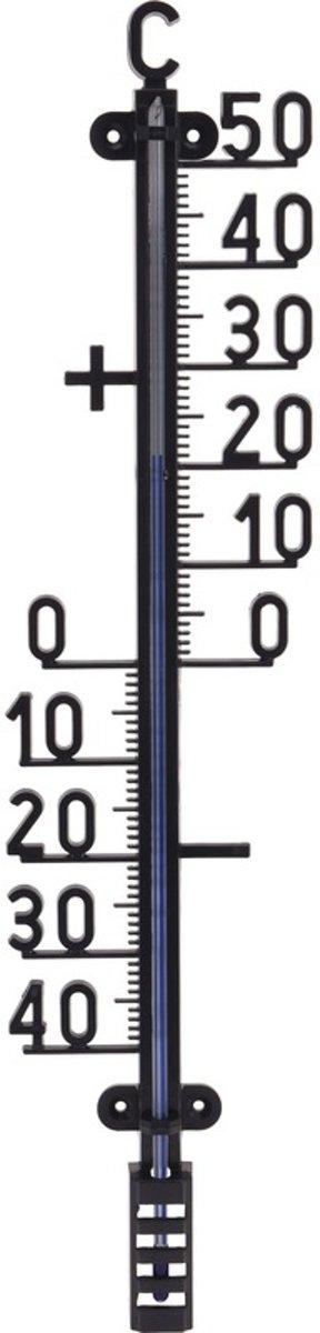 Zwarte thermometer 41 cm - Thermometers voor binnen en buiten